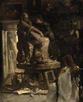 De beeldhouwer: sculptor at work
