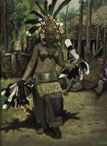 Dayak girl performing Hornbill dance
