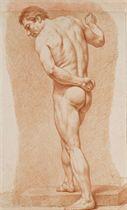 Académie d'homme nu de dos