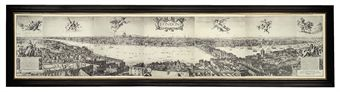 A Panoramic View of London in 1647, and other views of London