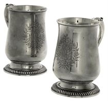 A PAIR OF GEORGE III SILVER MUGS