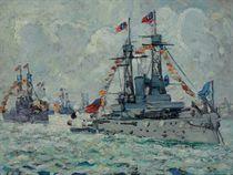 Battleships on the Hudson River