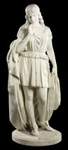 AN AMERICAN MARBLE FIGURE ENTITLED 'THE WEPT OF WISH-TON-WISH'