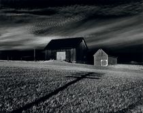 Two Barns, Dansville, New York, 1955
