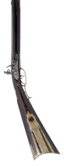 AN AMERICAN 80-BORE FLINTLOCK PENNSYLVANIA RIFLE OF THE CHAMBERSBURG SCHOOL