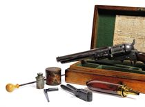 A CASED .31 'MODEL 1849' FIVE-SHOT SINGLE-ACTION PERCUSSION POCKET REVOLVER
