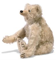 A STEIFF WHITE ROD BEAR, (28PB), jointed with metal rods, mo