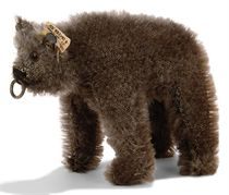 A STEIFF SMALL STANDING BEAR, (1308,0), brown mohair, brown
