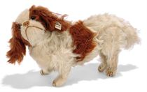 A STEIFF JOINTED KING CHARLES SPANIEL, (5317), white and lig