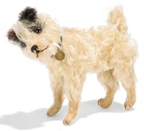 A STEIFF JOINTED CAESAR WIRE HAIR TERRIER, (5322), white moh