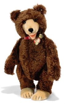 a steiff teddy baby 7340 jointed brown mohair brown and black glass eyes inset short. Black Bedroom Furniture Sets. Home Design Ideas