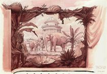 Design for a mural: The Elephant Grotto