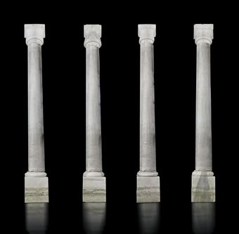 FOUR OTTOMAN ARCHITECTURAL MARBLE COLUMNS