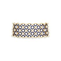 AN EXQUISITE DIAMOND, CULTURED PEARL, AND LAPIS LAZULI CHOKER NECKLACE, BY JEAN SCHLUMBERGER, TIFFANY & CO.