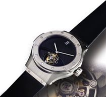 HUBLOT, SOLO T  WHITE GOLD MANUALLY-WOUND TOURBILLON WRISTWATCH, LIMITED EDITION OF 9