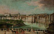 Vue de Rome depuis les rives du Tibre