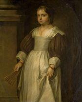 Portrait d'une jeune fille tenant un éventail