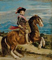 Portrait équestre du roi Philippe IV