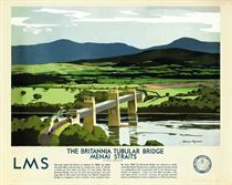 THE BRITANNIA TUBULAR BRIDGE, MENAI STRAITS