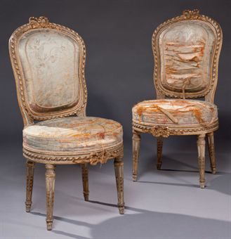 Paire de chaises en cabriolet d 39 epoque louis xvi for Chaises louis xvi occasion