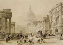 View of Luton House, London; and View of St. Paul's Cathedral, London (illustrated)