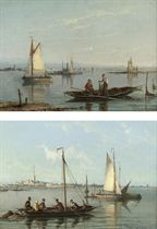 View of Schiedam near the Scheldt; and The lighthouse Tussendam