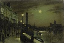 The Thames Embankment, London; and The Houses of Parliament, London