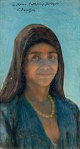 Portrait de femme au collier
