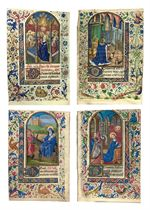 BOOK OF HOURS, in Latin, use of Rome, ILLUMINATED MANUSCRIPT