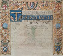 COMMONWEALTH OF ENGLAND Two documents on vellum, illuminated