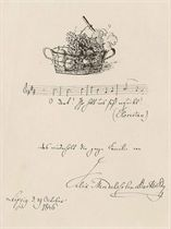 MENDELSSOHN-BARTHOLDY, Felix (1809-1847) Autograph musical q
