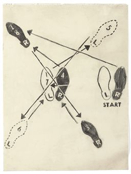 andy warhol (1928-1987) | dance diagram | 20th century ... andy warhol dance diagram 1962