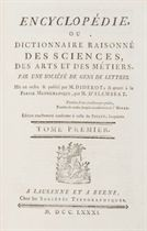 DIDEROT, Denis (1713-1784) & ALEMBERT, Jean le Rond d' (1717