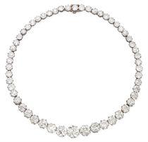 AN ANTIQUE DIAMOND RIVIERE, BY BIRKS