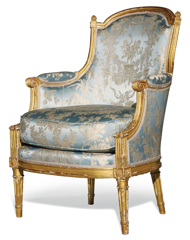 bergere en cabriolet d 39 epoque louis xvi vers 1780 bergere furniture lighting christie 39 s. Black Bedroom Furniture Sets. Home Design Ideas