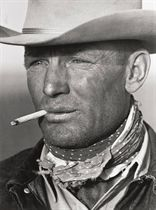 Portrait of Texas Cowboy Clarence Hailey Long, 1949