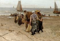Collecting the day's catch