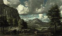 Landschap met vechtenden: landscape with fighters