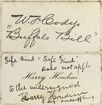 Harry Houdini and William Frederick Cody