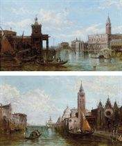 The Grand Canal, Venice; and The Dogana, Venice