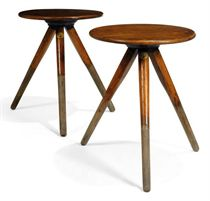 A PAIR OF ASH CRICKET TABLES