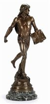 A FRENCH BRONZE FIGURE ENTITLED 'LE SEMEUR DIDEES'