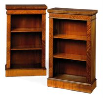 A PAIR OF SATINWOOD BOOKCASES