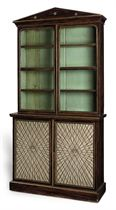 A SIMULATED ROSEWOOD AND PARCEL-GILT BOOKCASE