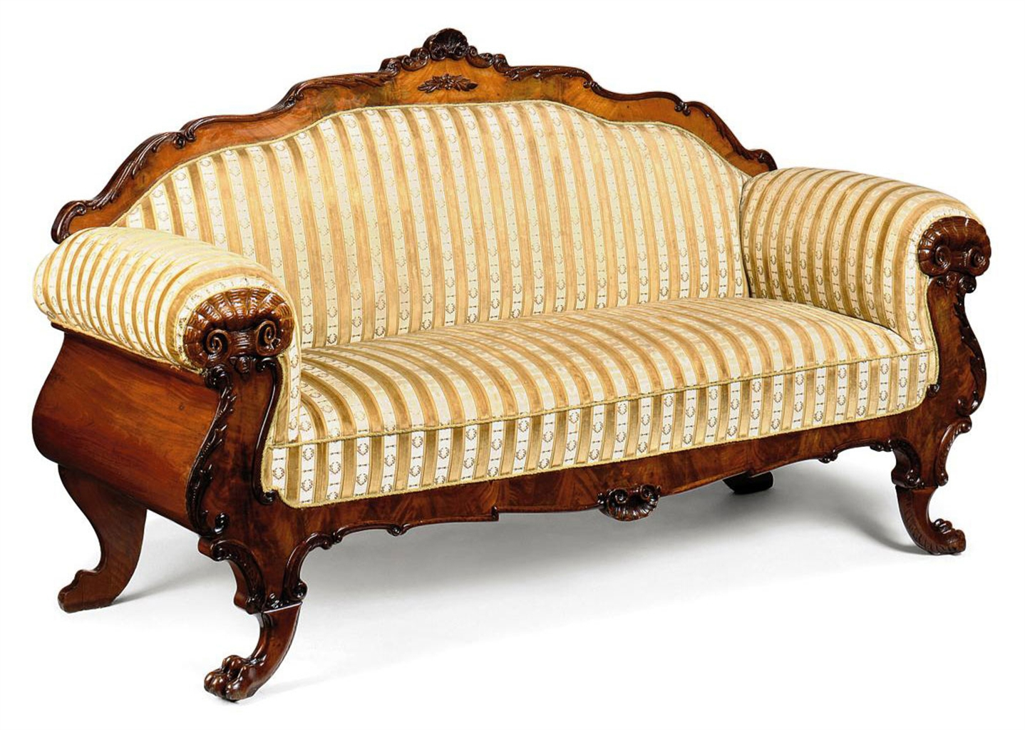 A north european carved walnut sofa late th century
