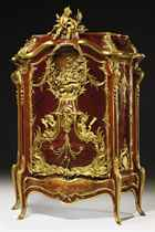 'BAHUT MARINE': A HIGHLY IMPORTANT FRENCH ORMOLU-MOUNTED KINGWOOD, SATINE, MAHOGANY AND MARQUETRY CABINET