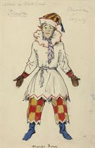 A costume design for Petrushka: Nijinsky as Petrushka