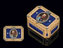 A Rare and Important Jewelled Three-Colour Gold and Guilloché Enamel Imperial Presentation Snuff-Box