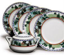 A Set of Twelve Porcelain Plates
