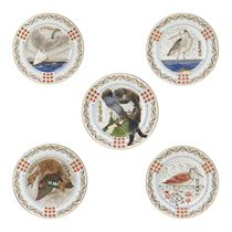 A Set of Eight Porcelain Ornithological Plates
